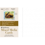 "Strathmore® Mixed Media Full Size Cards 100-Pack: White/Ivory, Card, 100 Cards, 5"" x 6 7/8"", Mixed Media, 140 lb, (model ST105-662), price per 100 Cards"
