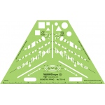 Alvin® Isometric Piping Template; Color: Green; Type: Architectural; (model TD1143), price per each