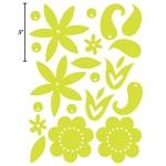 Heidi Swapp Chipboard Shapes Glossy Flowers: Whisper Blue
