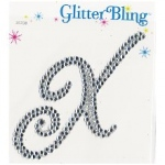 Making Memories Glitter Bling Monogram Script: X