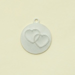 Making Memories With Love Charms Emb Hearts Silver Wedding