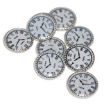 "Stanislaus Imports, Inc. Paris Clock: Nickel, 1/2"", 12 Pc"