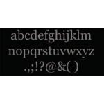 "Zsiage White Chipboard: Prim Proper 5"", Lower a-z Set (26)"