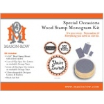 Mason Row Special Occasions Monogram Set with Wood Block