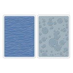 Sizzix Tim Holtz Alterations Texture Fades Embossing Folders: Waves & Bubbles Set, Pack of 2