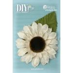 Petaloo - DIY - Burlap Giant Sunflower x 1 - Ivory