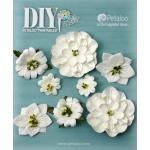 Petaloo - DIY Paintables - Mixed Blossoms x 8 - White