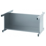 "Safco® Gray High Base 20"": Black/Gray, Steel, 29 3/8""d x 40 3/8""w x 20""h, (model 4975G), price per each"