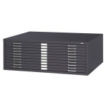 "Safco Steel Flat File: 10 Drawers, Black, 16 1/2"" x 46 3/8"" x 35 3/8"""