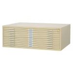 "Safco Steel Flat File: 10 Drawers, Sand, 16 1/2"" x 46 3/8"" x 35 3/8"""