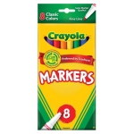 Crayola® Fine Line 8-Color Marker Set: Multi, Fine Nib, (model 58-7709), price per pack