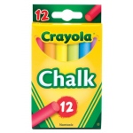 Crayola® Chalk Sticks 12-Color Multicolor: Multi, Stick, (model 51-0816), price per pack