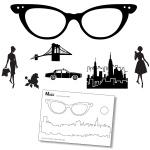 Claritystamps - Ladies Glasses Stamp Set