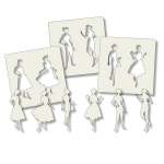 Claritystamps - Elegant Ladies Stencil Set