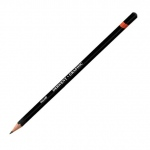 Derwent Graphic Pencil 4H Hard: Black/Gray, 4H, Drawing, (model 34188), price per each