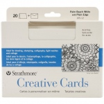 "Strathmore® 5 x 6.875 Palm Beach/Plain Edge Creative Cards 20-Pack; Color: Blue, White/Ivory; Envelope Included: Yes; Format: Card; Quantity: 20 Cards; Size: 5"" x 6 7/8""; Weight: 80 lb; (model ST105-12), price per 20 Cards"
