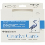 "Strathmore® 5 x 6.875 Palm Beach/Plain Edge Creative Cards 10-Pack; Color: Blue, White/Ivory; Envelope Included: Yes; Format: Card; Quantity: 10 Cards; Size: 5"" x 6 7/8""; Weight: 80 lb; (model ST105-120), price per 10 Cards"