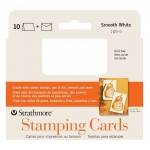 "Strathmore® Stamping Cards 10-Pack: White/Ivory, Envelope Included, Card, 10 Cards, 3 1/2"" x 4 7/8"", Smooth, 80 lb, (model ST105-5), price per 10 Cards"