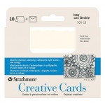 "Strathmore® 3.5 x 4.875 Ivory/Deckle Creative Cards: White/Ivory, Envelope Included, Card, 10 Cards, 3 1/2"" x 4 7/8"", 80 lb, (model ST105-15), price per 10 Cards"