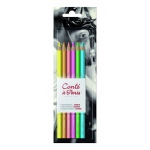 Conte™ Pastel Pencils 6-Color Set Bright Hues: Multi, Pencil, (model C50114), price per set
