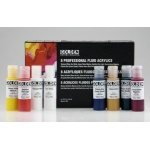 Golden Fluid Acrylic Color Paint: 8-Color Set, 0.5oz. (15ml) Cylinders