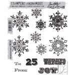 Stampers Anonymous - Tim Holtz - Mini Weathered Winter Stamp Set