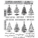 Stampers Anonymous - Tim Holtz - Scribbly Christmas Stamp Set