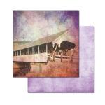 Ken Oliver - Covered Bridges - Mill Creek 12x12 Paper