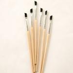 Ranger - ICE Resin - ICED Enamels Angled Brushes - 6 pack