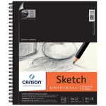 "Canson® Artist Series Universal™ 9"" x 12"" Sketch Pad; Binding: Wire Bound; Color: White/Ivory; Format: Pad; Quantity: 100 Sheets; Size: 9"" x 12""; Texture: Fine; (model C100510851), price per 100 Sheets pad"