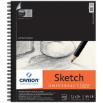 "Canson® Artist Series Universal™ 11"" x 14"" Sketch Pad: Wire Bound, White/Ivory, Pad, 100 Sheets, 11"" x 14"", Fine, (model C100510852), price per 100 Sheets pad"