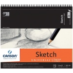 "Canson® Artist Series Universal™ 14"" x 17"" Sketch Pad; Binding: Wire Bound; Color: White/Ivory; Format: Pad; Quantity: 100 Sheets; Size: 14"" x 17""; Texture: Fine; (model C100510853), price per 100 Sheets pad"