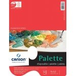"Canson® Foundation Series 9"" x 12"" Disposable Palette Sheet Pad; Binding: Fold Over; Color: White/Ivory; Format: Pad; Quantity: 40 Sheets; Size: 9"" x 12""; (model C100510958), price per 40 Sheets pad"