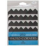 Canson Archival Self-Adhesive Photo Corners: Black, 252 Pieces per Bag