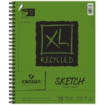 "Canson® XL® 9"" x 12"" Recycled Sketch Pad (Side Wire); Binding: Wire Bound; Color: White/Ivory; Format: Pad; Quantity: 100 Sheets; Size: 9"" x 12""; Texture: Medium; (model C100510922), price per 100 Sheets pad"
