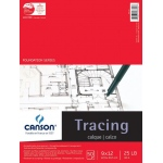 "Canson® Foundation Series 9"" x 12"" Tracing Paper Pad; Binding: Fold Over; Color: White/Ivory; Format: Pad; Quantity: 50 Sheets; Size: 9"" x 12""; Texture: Smooth; (model C100510960), price per 50 Sheets pad"