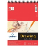 "Canson® Foundation Series 9"" x 12"" Wire Bound Drawing Pad; Binding: Wire Bound; Color: White/Ivory; Format: Pad; Quantity: 30 Sheets; Size: 9"" x 12""; Texture: Fine; (model C100510978), price per 30 Sheets pad"