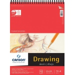 "Canson® Foundation Series 11"" x 14"" Foundation Drawing Pad; Binding: Wire Bound; Color: White/Ivory; Format: Pad; Quantity: 30 Sheets; Size: 11"" x 14""; Texture: Fine; (model C100510979), price per 30 Sheets pad"