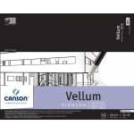 "Canson® Artist Series 19"" x 24"" Vellum Sheet Pad; Binding: Fold Over; Color: White/Ivory; Format: Pad; Quantity: 50 Sheets; Size: 19"" x 24""; Texture: Smooth; (model C100510986), price per 50 Sheets pad"