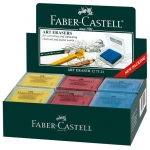 Faber-Castell® Color Kneaded Eraser Display; Color: Assorted; Quantity: 18-Box; Type: Manual; (model FC127321D), price per each