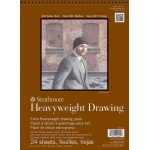 "Strathmore® 400 Series 9"" x 12"" Heavyweight Drawing Pad; Binding: Wire Bound; Color: White/Ivory; Format: Pad; Quantity: 24 Sheets; Size: 9"" x 12""; Texture: Medium; Type: Drawing; Weight: 100 lb; (model ST400-209), price per 24 Sheets pad"