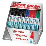 Pilot®  Super Color Permanent Marker Display Assortment (Xylene-Free): Multi, Refillable, Chisel, (model P2402D), price per each