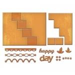 Spellbinders - Lets Party - Card Creator - Happy Days Step Card Dies