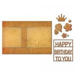 Spellbinders - Lets Party - Card Creator - Decorated Birthday Step Card Dies