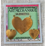 Ranger - ICE Resin - Art Mechanique Brass Silhouette Blanks - Hearts - 3 Pieces
