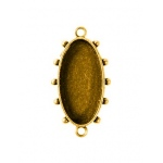 Ranger - ICE Resin - Mixed Metal Bezels - Hobnail Oval - Small - Antique Brass - 2 Bezels