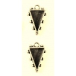 Ranger - ICE Resin - Mixed Metal Bezels - Hobnail Triangle - Small - Antique Silver - 2 Bezels