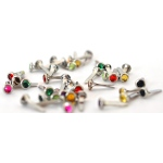 Ranger - ICE Resin - Connections - 4mm Gem Brads - Multi Color Pack - 40 pieces