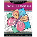 Design Originals - Zenspirations Birds and Butterflies Coloring Book