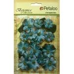Petaloo - Vintage Velvet Dogwood - Teal
